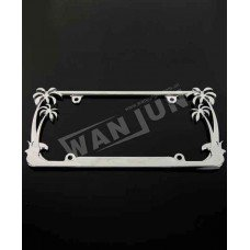 product name 3d custom coconut tree palm tree license plate frame