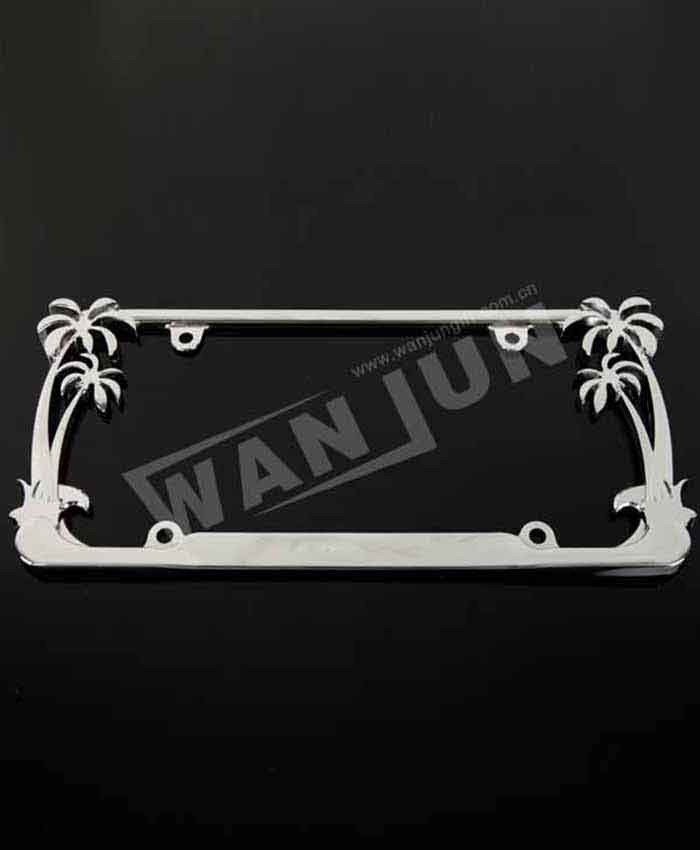 3d custom coconut tree palm tree license plate frame