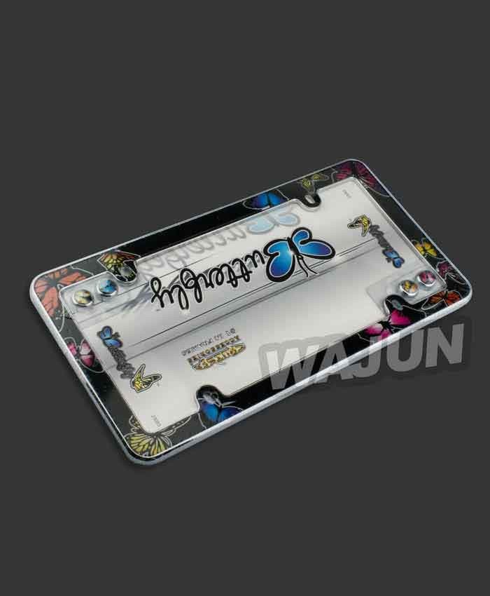 Plastic material paper printing with acrylic butterfly license plate ...