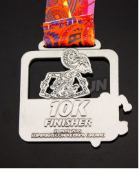10k run race finisher sports medals and ribbons