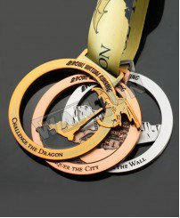 3 color plating gold silver bronze souvenir Combination of medals with magnet