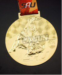 3D engraving plating gold judo medals and awards