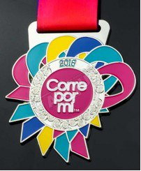 Beautiful and colorful soft enamel award medal