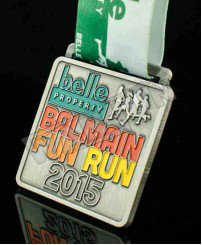 Local organizers 2D zinc alloy fun run medal