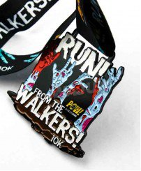 10K run colorful cheap dye black metal medal for the walkers