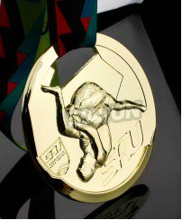3D engraving gold Wrestling tournament game medal
