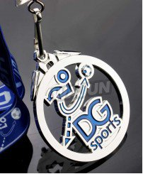 Custom DG football games cut out sport metal medal with ribbon