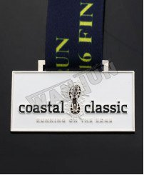 Metal coastal classic running medal new design