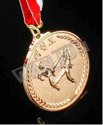 Tae kwon do gold silver bronze 3d medal