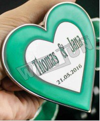 zinc alloy plating nickel with epoxy heart shape medal