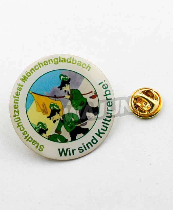 Aluminium printing with epoxy personalized lapel pins manufacturer