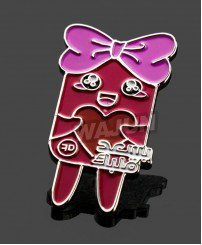 Cute colorful animated cartoon badge for kids