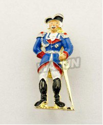 Funny man cosplay Large scale events promo Circus badge