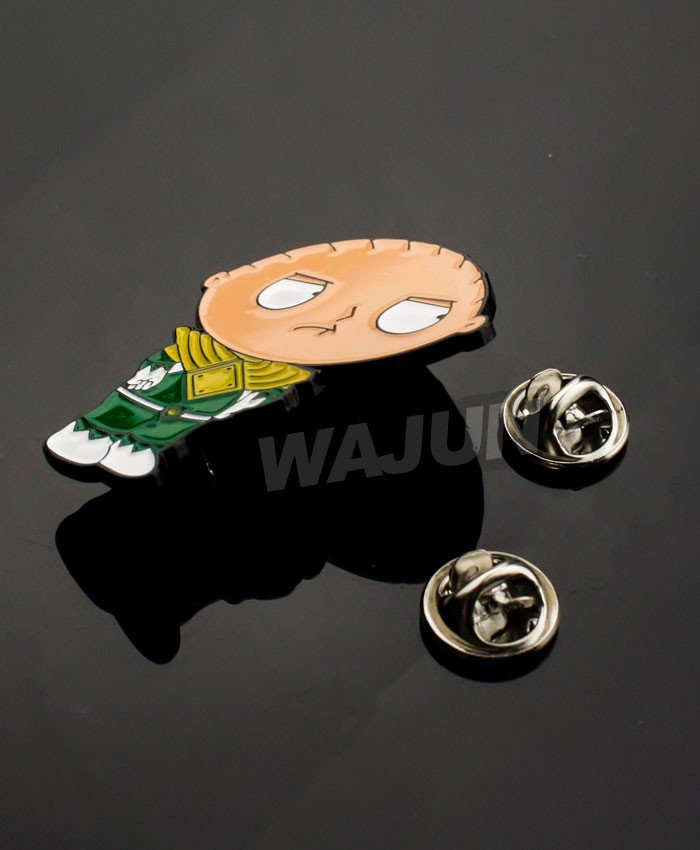 Cartoon funk colorful beautiful soft enamel metal lapel pin badge