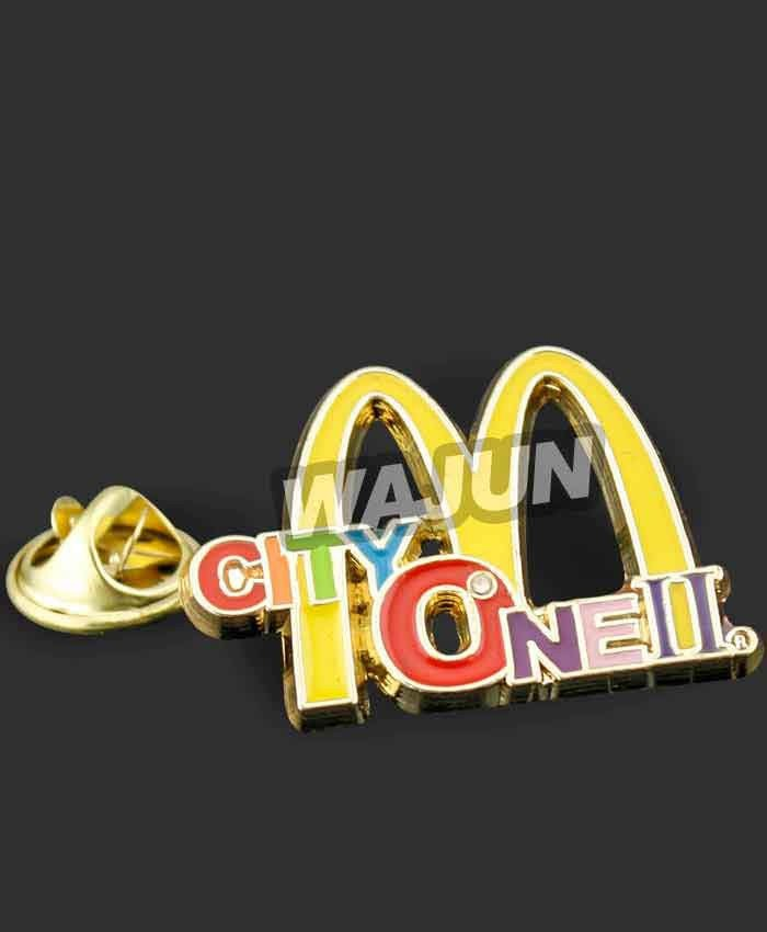 custom Brand identity metal badge for macdonald's
