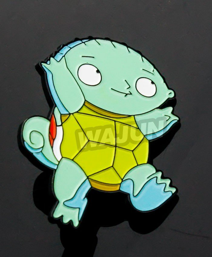 China factory custom cheap badge soft enamle Turtle lapel pin
