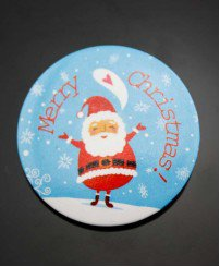 Christmas and new year series button badge