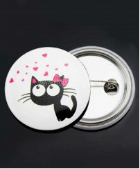 Cute photo custom personalised button tin badges