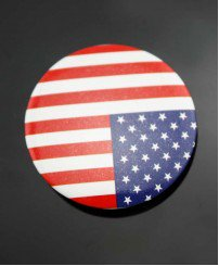 Flag promotional button badge pins customizetion