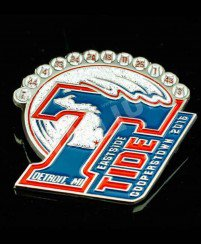 United states eastside coopers town metal glitter trading pins