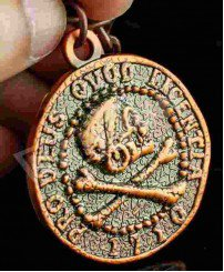 3D plating antique copper souvenir keychain