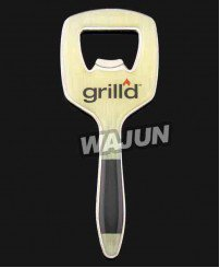 Handle type sticker glue bottle opener with magnet on backside