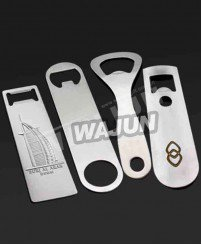 Regular and easy to use stainless steel custom bottle opener