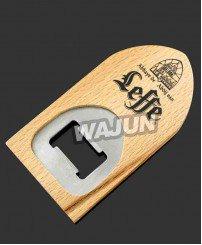 Screen printing logo wooden bottle opener