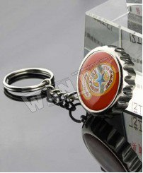 Zinc alloy beer bottle cap bottle opener keychain
