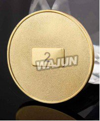 Custom 2D sand blasting gold coins for souvenir