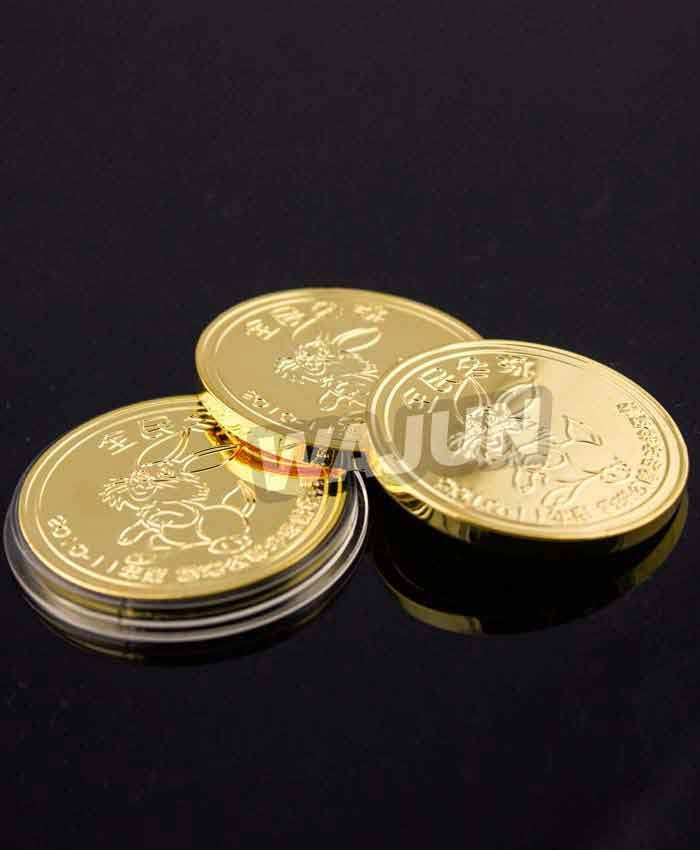 Custom winter swiming sport souvenir Gold coin