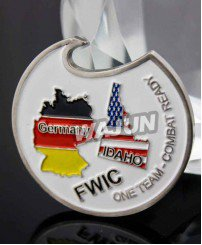 FWIC america and germany Joint military exercise souvenir bottle opener coins