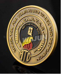 Hard work and dedication souvenir challenge coins