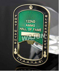 IYAAYAS hall of fame bottle opener challenge coins with  lifting hole (eyelet)