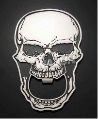 Skull unique metal bottle opener challenge coins