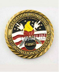 US air force army oblique line challenge coins for sale