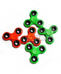 Multicolored solid-colored plastic hollow metal fidget spinner wholesale