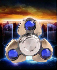 Unique ceramic Bearing Hand GEM brass spinner fidget toys for adults