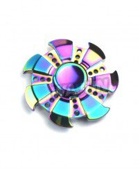 Rainbow EDC Finger Spinner High Speed Bearing CNC Process Focus Gyro Toys for Kids and Adults