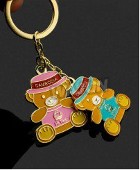 Soft enamel cute winnie bear soft enamel keychain for disney