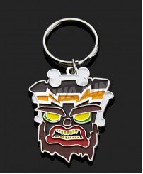 The PS4 game Crash Bandicoot Uka Uka keychain professional souvenir