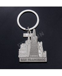 Metal San Francisco keychain souvenirs from all over the world