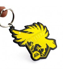 Dye painting black spray paint electrophoresis metal eagle keychain
