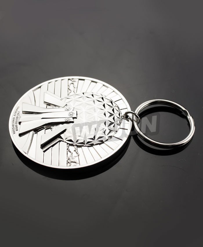 3D engraving die casting metal keychain for cheap