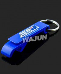 Aluminum alloy custom color beer bottle opener keychain