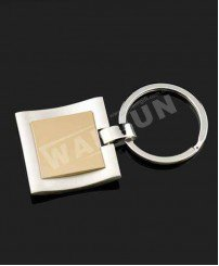 Custom 3d cambered surface blank metal keychain (can laser logo and infimation)