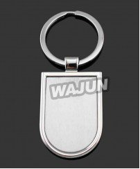 Custom blank keychain with laser logo for china manufacturer