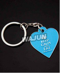 Custom heart shape soft enamel keychain