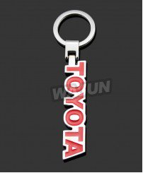 Customized zinc alloy soft enamel car logo brand name keychain