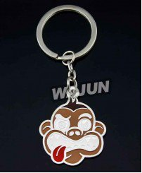 Cute animal metal monkey keychain